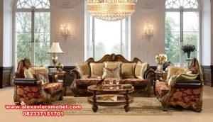 Sofa ruang tamu klasik modern kayu jati Jepara Srt-087