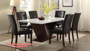 desain produk meja makan mewah model minimalis jati skm-094