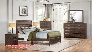 Kamar set kayu jati minimalis elegance Ks-085
