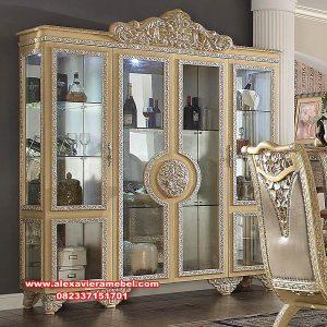 lemari pajangan kristal 4 pintu mewah duco china Sbt-081