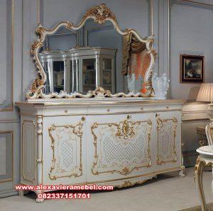 Meja konsul dan cermin duco model terbaru dan mewah Mkr-077