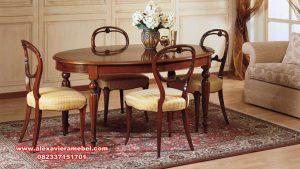 Model meja makan set mewah minimalis Jepara Skm-097