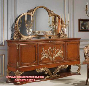 Model set meja konsul klasik kayu berkualitas TPK Mkr-076