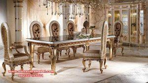 set meja makan mewah luxury furniture skm-095