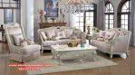 Set sofa tamu putih duco klasik tradisional living room Srt-100