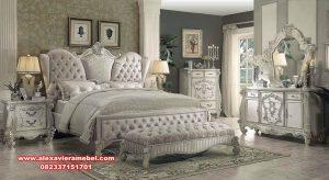 Harga tempat tidur versailes mewah modern putih Ks-098