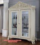 lemari pajangan kaca duco ukiran mewah keana design Sbt-092