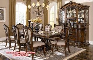 meja kursi makan set mewah kayu jati jepara skm-104