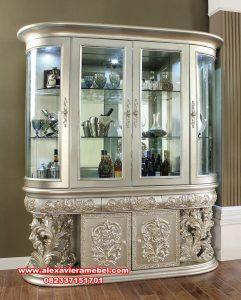 model lemari hias ukiran termewah deandra sbt-091