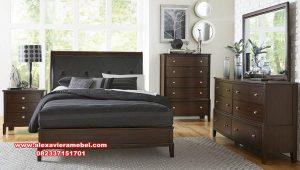 produk 1 set kamar jati jepara terbaru model minimalis mewah ks-094