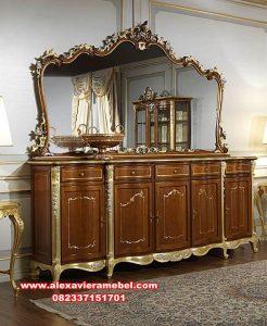 set meja konsul bufet kayu jati mewah pecchiera mkr-080