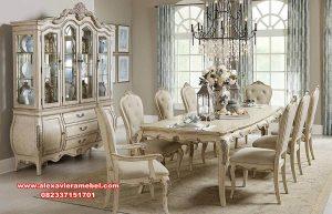 Set meja makan mewah duco modern classic european Skm-103