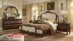 Tempat tidur set classic jati mewah ukiran mebel Jepara Ks-095