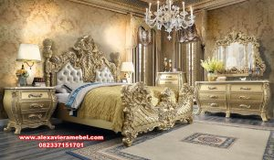 Master bed room set luxury ukiran mewah model klasik eropa Ks-105