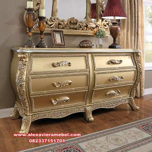 model dresser table luxury gold zamaika mkr-090