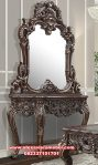 model meja konsul dan cermin kayu jati ukiran mkr-088