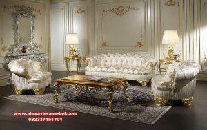 model sofa tamu set mewah ukiran modern terkini srt-116