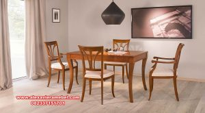 Set kursi makan minimalis selva kayu jati Skm-114