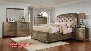 set tempat tidur mahoni modern minimalis jovanka ks-108
