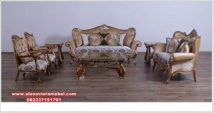 sofa ruang tamu kayu jati klasik mewah super srt-114