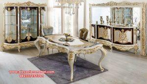 daftar harga meja makan mewah alisya skm-119