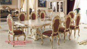meja makan klasik mewah golden leaf luxury italy skm-128