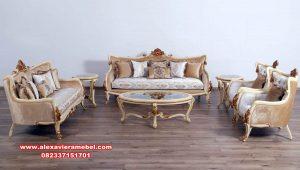 model kursi tamu mewah veronica beige elegant srt-127