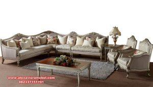 set sofa tamu sudut klasik mewah duco Srt-123