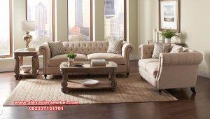 sofa tamu coaster mewah modern kayu jati srt-125