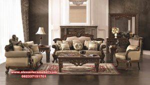 model set kursi tamu royal design mewah kayu jati srt-139