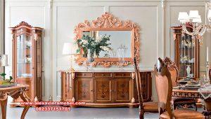 produk set bufet tv walnut classic italian luxurious furniture sbt-094