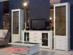 set bufet tv duco kayu mahoni modern sbt-095