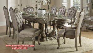 set kursi makan klasik mahoganny wood renata skm-143