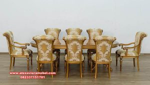 inspirasi dining room set maggiolini luxury gold skm-147