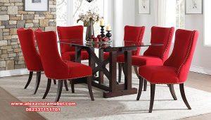 meja makan kaca minimalis home living skm-144