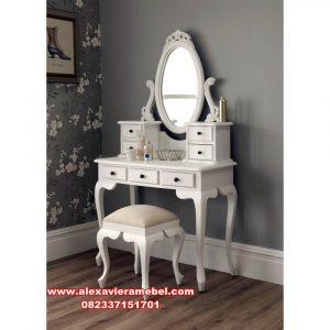 meja rias srikandi minimalis duco putih mkr-115