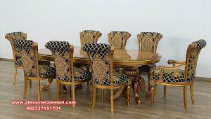 set meja makan gold series mewah klasik skm-145