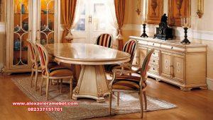 set meja makan segi lima mewah skm-146
