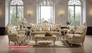 living room set gold rose romawi versace srt-151