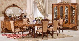 set meja makan ganesha luxury jati kualitas terbaik skm-148