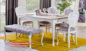 inspirasi model meja makan modern istanbul skm-155