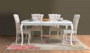 model meja makan modern duco simpel Skm-162