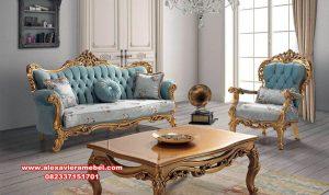 model sofa ruang tamu rosa model mewah klasik gold srt-160
