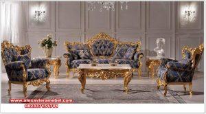 Katalok produk set sofa tamu barcelona gold klasik mewah Srt-177