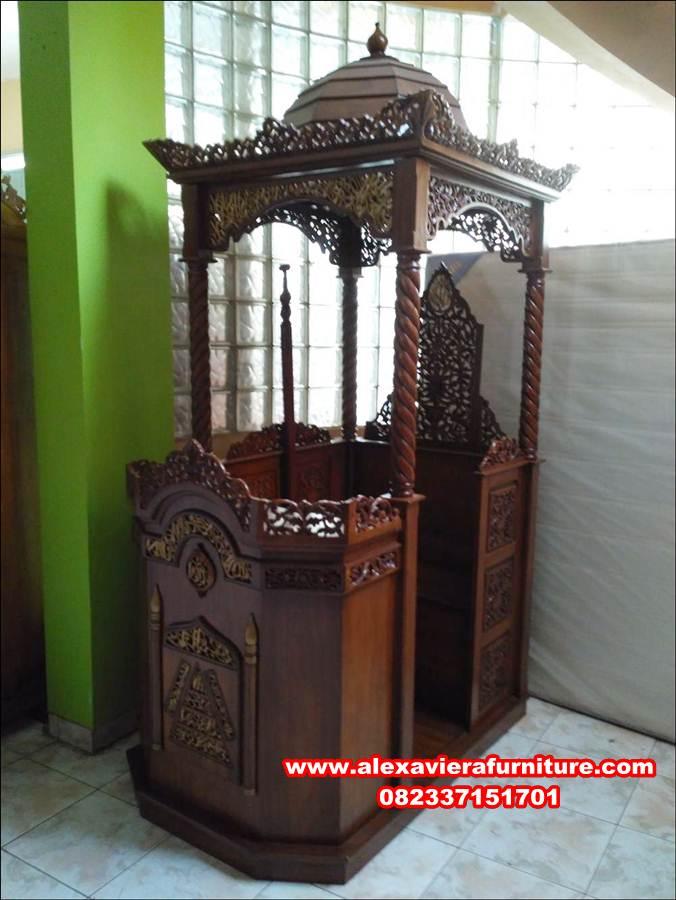 jual mimbar masjid murah ukiran jepara jati