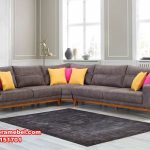 sofa sudut minimalis modern jati, sofa tamu sudut jati, sofa sudut sederhana