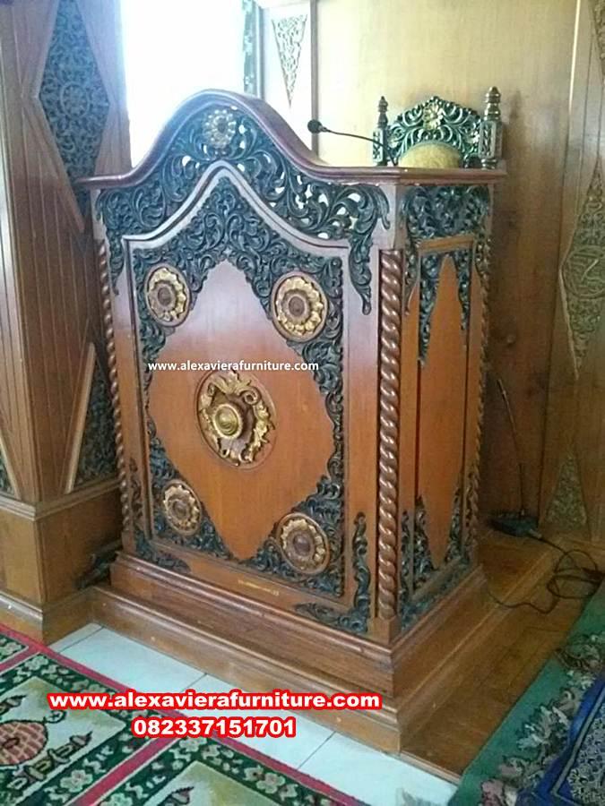 podium mimbar jati jepara terbaru, mimbar masjid, mimbar masjid sederhana, mimbar masjid minimalis, harga mimbar masjid, mimbar masjid ukiran jepara