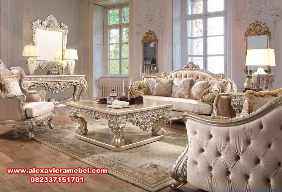 Set Sofa Ruang Tamu Mewah Modern Cantik