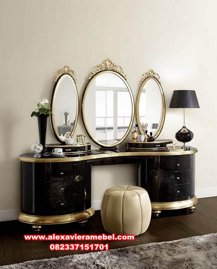 meja rias cermin mewah modern vintage, set meja konsul, meja konsul mewah, meja konsul modern, jual meja konsul cermin, harga meja konsul Jepara