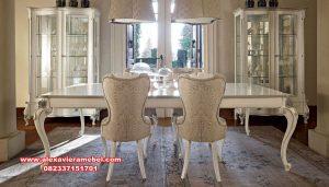 Model meja kursi makan klasik rose modern Skm-067